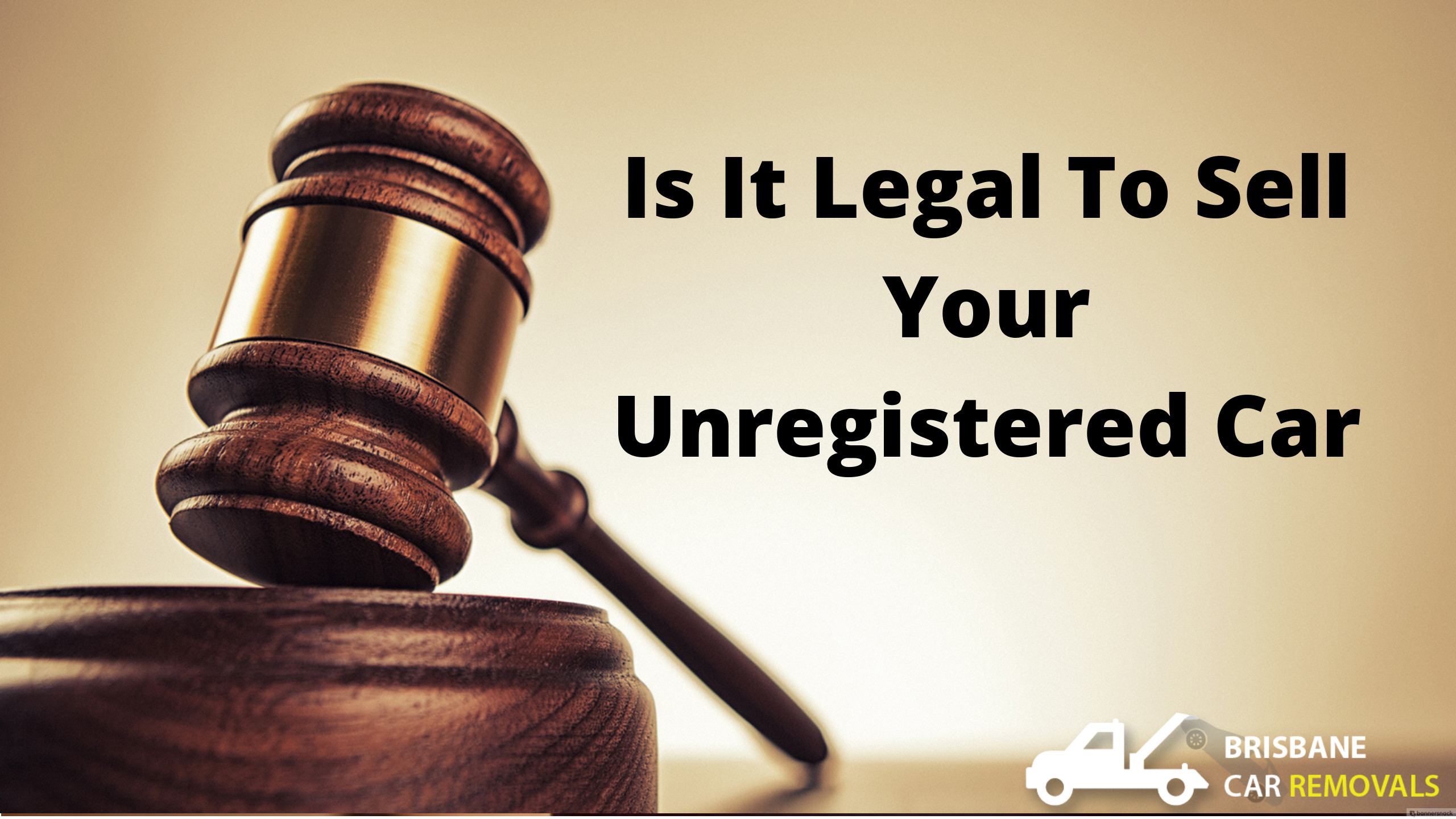 Is It Legal To Sell Your Unregistered Car